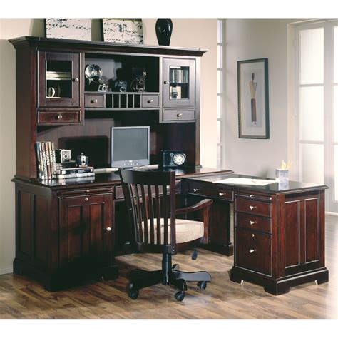 l shaped desk with hutch to it riverside crossings l shaped desk
