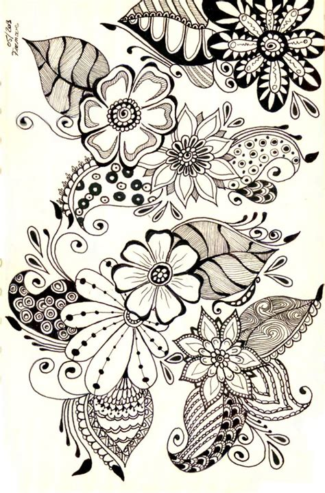 doodle vs drawing 753 best images about doodle zentangle flowers on