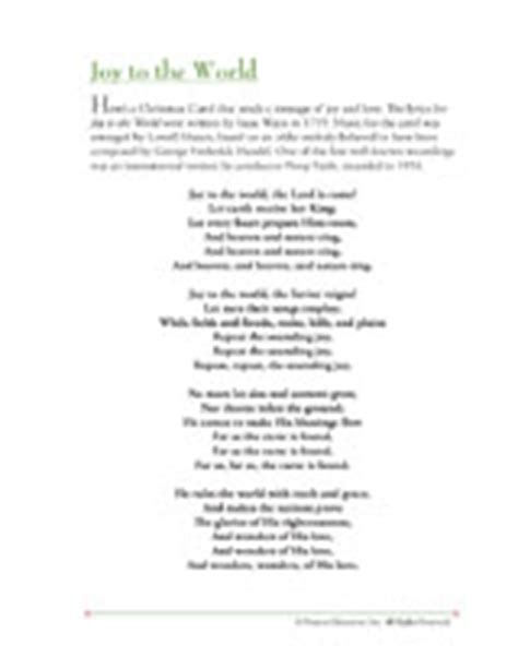 printable lyrics joy to the world christmas song lyrics joy to the world printable