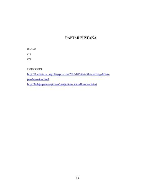 Lu Belajar Karakter contoh daftar pustaka pada makalah lkit 2017