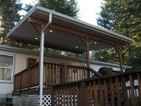 metal roof covered deck