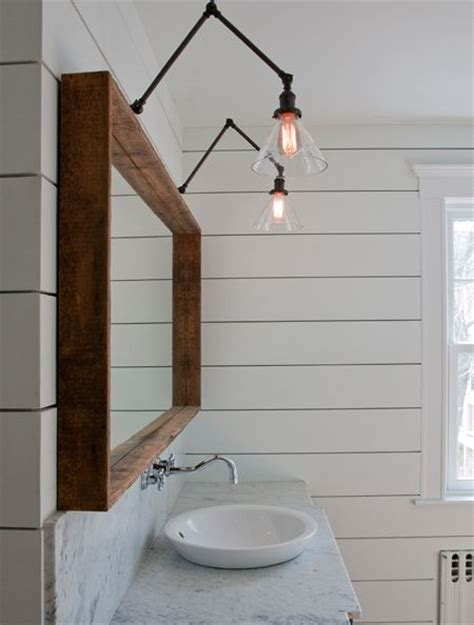 Swing Arm Bathroom Mirror Ship Handsome Wood Mirror And Swing Arm Ls Wood Pinterest
