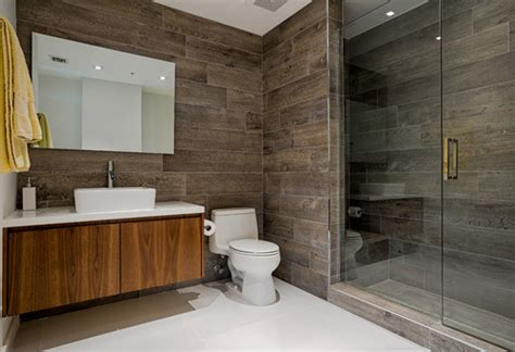 In Bathrooms by Wood Look Porcelain Tile In Bathrooms