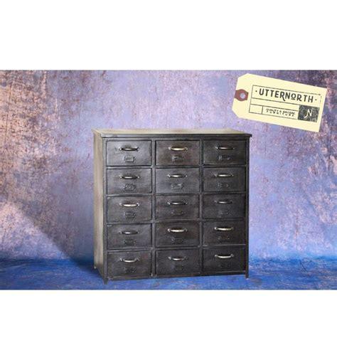Commode Acier commode en acier 15 tiroirs vintage industriel