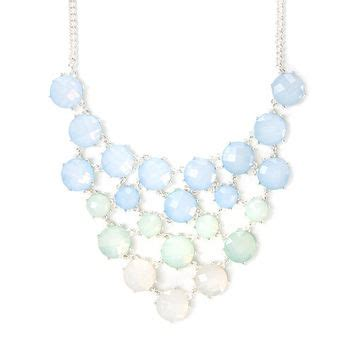 light blue statement necklace peyton light blue ombre opal crystals from icing jewelry