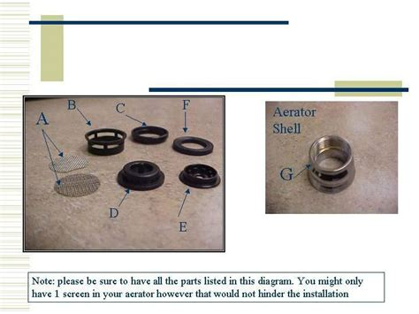 Kitchen Faucet Aerator Assembly Diagram How To Assemble An Aerator