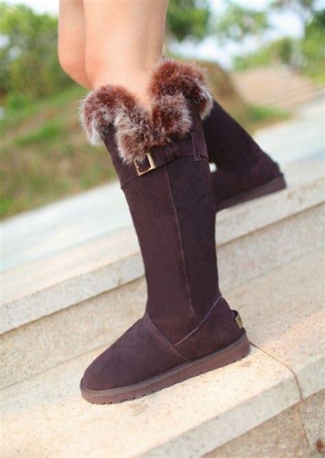 ugg knee high fox fur boots ugg knee high snow boots