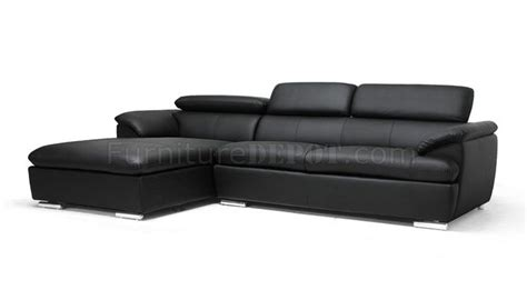ferdinan sectional sofa black faux leather wholesale