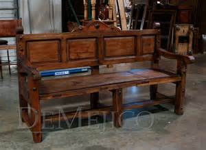 Old Wooden Bench For Sale by Banca Puertas Viejas Custom Bench Demejico