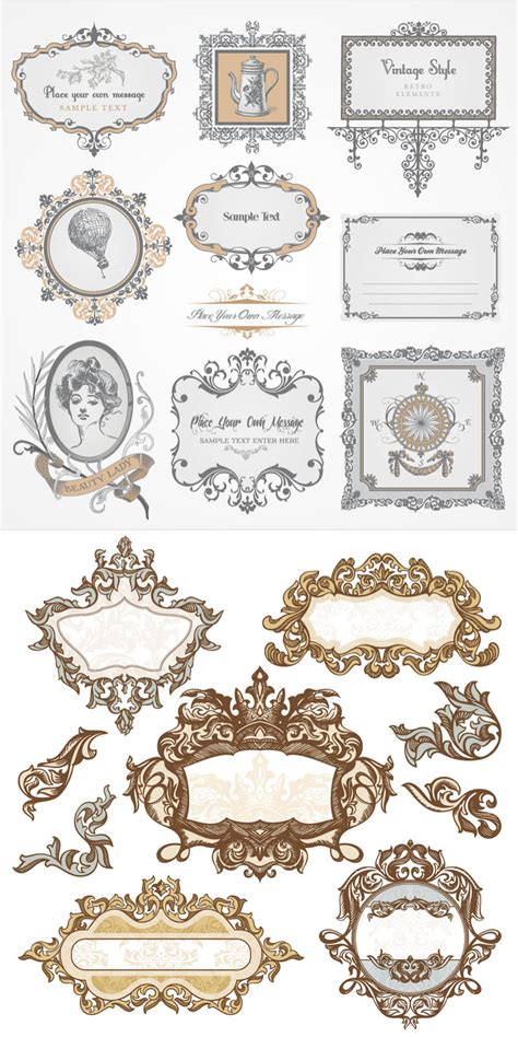 free baroque design elements vector baroque frames vector vector graphics blog
