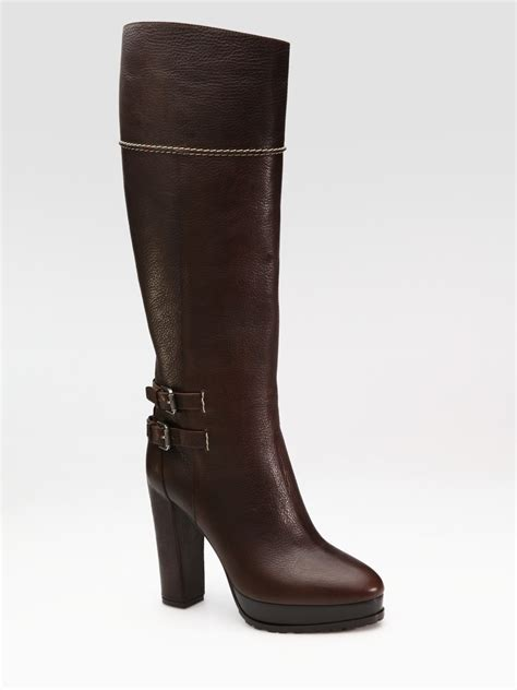 lug boots ralph collection lug sole platform knee high boots