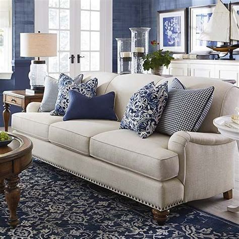 living rooms with white sofas the essex sofa by bassett customize with 1000 fabrics
