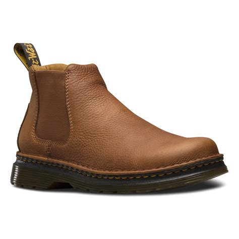 dr martens oakford chelsea boot in brown for lyst