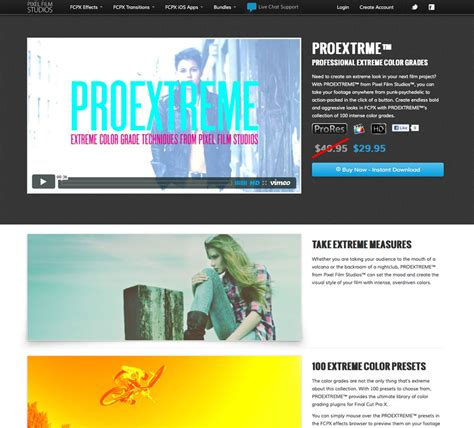 final cut pro grading proextreme extreme color grades plugin pack for final cut