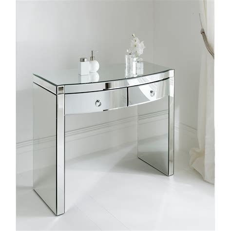 mirror console table florence mirrored console table