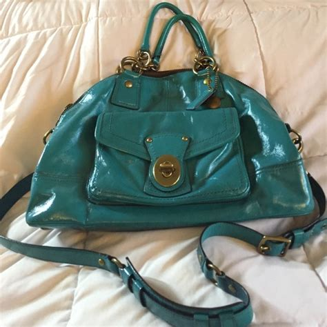 Bag Alert Patent Francine By Coach by 67 Coach Handbags Euc Coach Teal Patent