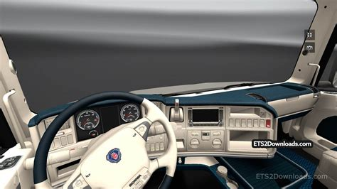 free ets2 mods cold white interior for scania t