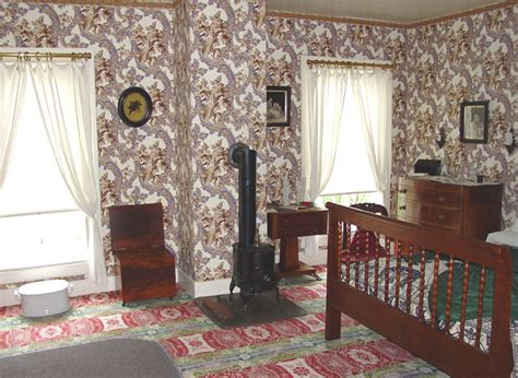 Couch In Dining Room Interior Of Lincoln S Home In Springfield Illinois