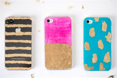 acrylic paint phone gold leaf iphone cases diy