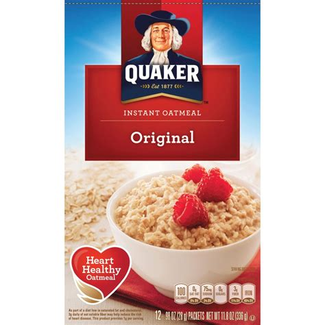 Instant Oatmeal by Quaker Oats Foods Instant Oatmeal Qkr01210 Supplygeeks