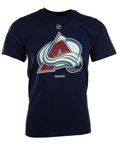 reebok s sleeve colorado avalanche t shirt in