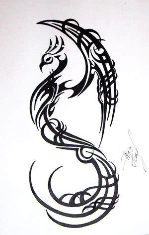 tattoo phoenix tribal triball phoenix design tattoo