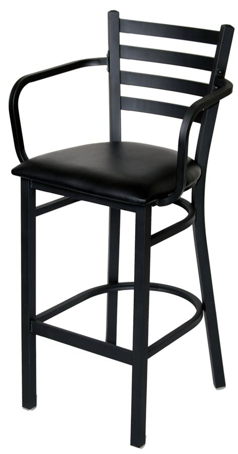 Metal Bar Stools With Arms by Ladder Back Metal Bar Stool With Arms