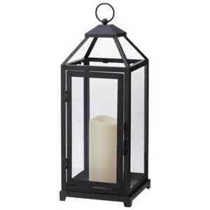 decorative lantern with led candle black target