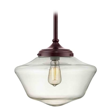 Schoolhouse Style Pendant Lighting 14 Inch Bronze Clear Glass Schoolhouse Pendant Light Fa6 220 Ga14 Cl Destination Lighting