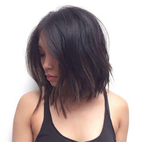 choppy lob haircut medium length 60 most beneficial haircuts for thick hair of any length