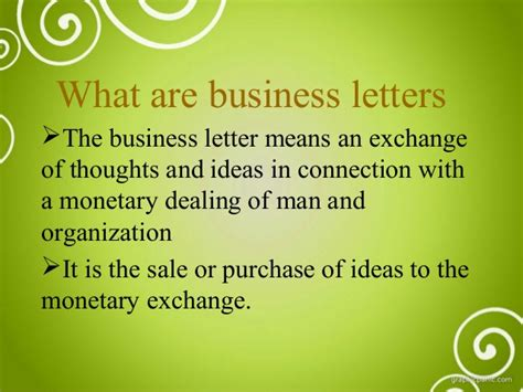 The Business Letter Ppt business letters ppt