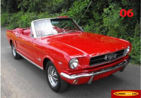 Location FORD MUSTANG 1965 Rouge 1965 Rouge NICE