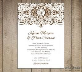 Wedding Invitations Printable Templates Free   wblqual.com