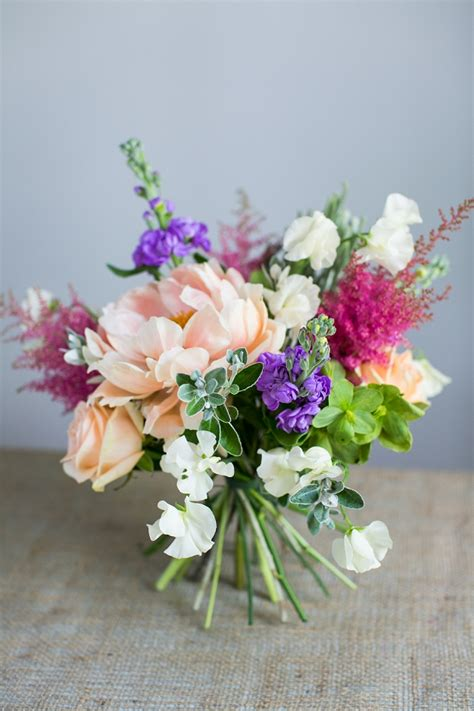 design a flower bouquet diy spring bouquet tutorial with peonies