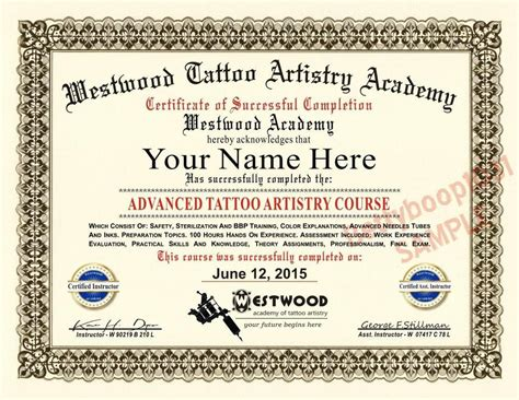 tattoo licence cost or tattoo license exam