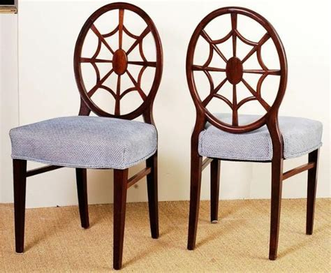 Spider Back Chair by Antique Mahogany Spider Back Set Of 6 Dining Chairs From