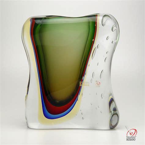 vaso murano vaso sommerso cristais c 225 d 180 oro