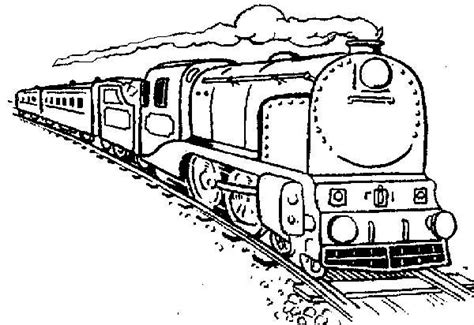 steam locomotive free colouring pages