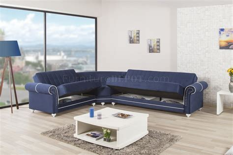 royal blue sectional sofa royal home sectional sofa in dark blue fabric by casamode