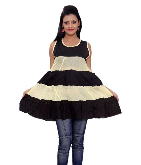 30950 Cotton Dress Black Size Sml buy sml originals yellow cotton dresses at best prices in india snapdeal