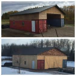 Our Shipping Container Seacan Barn Alberta Canada Pole Barn Home Plans Canada