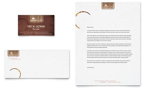 Business Letter For Coffee Shop Coffee Shop Business Card Letterhead Template Design