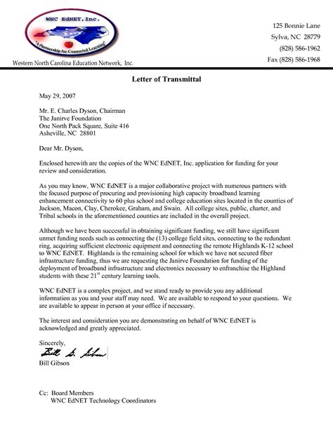 transmittal letter templates 10 best examples formats to start with