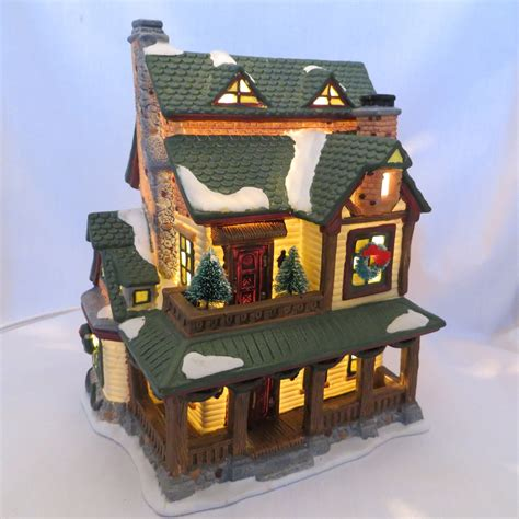 the hubbard house lighted smoking country christmas cabin village house incense burner what s it worth