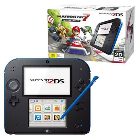 nintendo 2 ds console nintendo 2ds mario kart 7 console bundle black blue