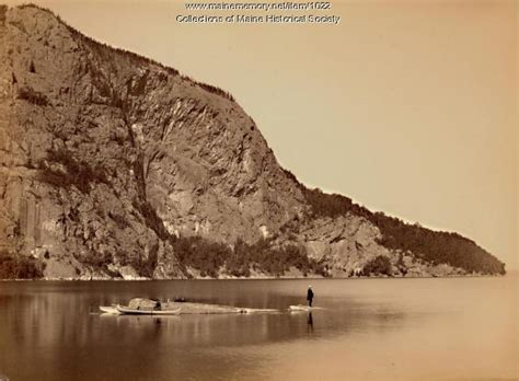 Table Rock Maine by Maine Memory Network Table Rock And Kineo Mountain 1888