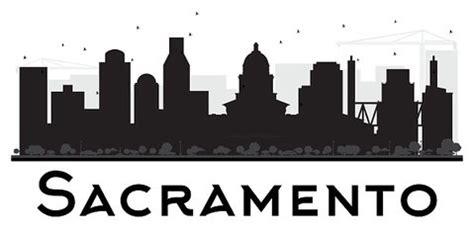 Clapper Light Sacramento City Skyline Black And White Stock Photos