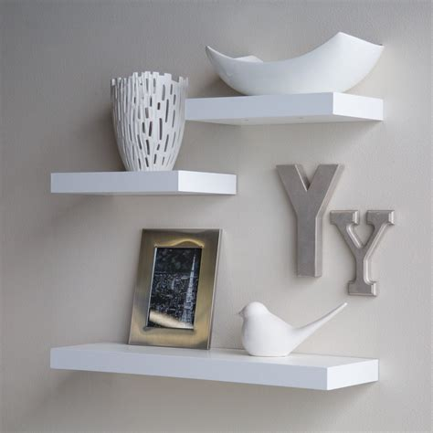 unique floating shelves hanging shelving white floating wall home decorative decor