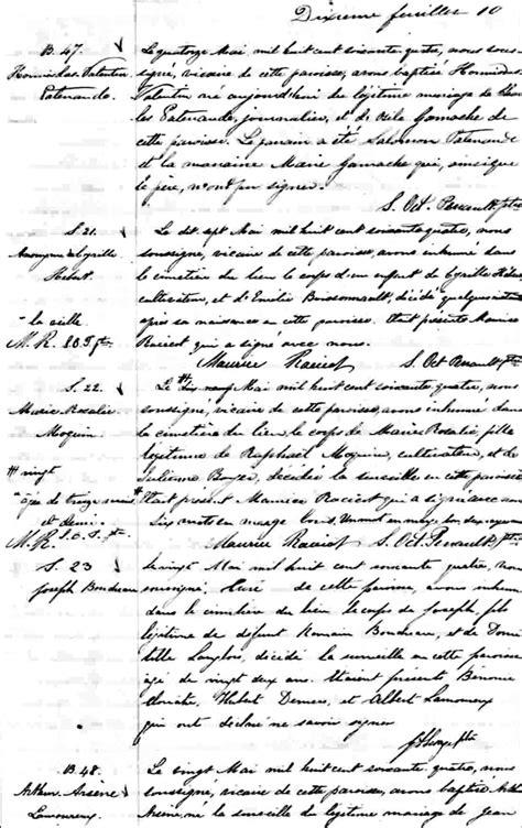 Birth Records Pre 1864 The Birth And Baptismal Record Of Hormisdas Valentin Patenaude 1864 Steve S