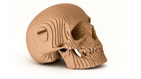 human skull from cardboard youtube
